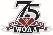 WOAA 75th anniversary logo