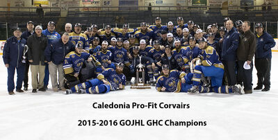 2016 GOJHL Golden Horseshoe Champs Calendonia Corvairs
