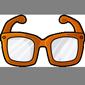Orange Hipster Glasses