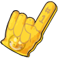 Team Yellow Sharshel Foam Finger