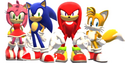 Amy, Sonic, Knuckles and Tails