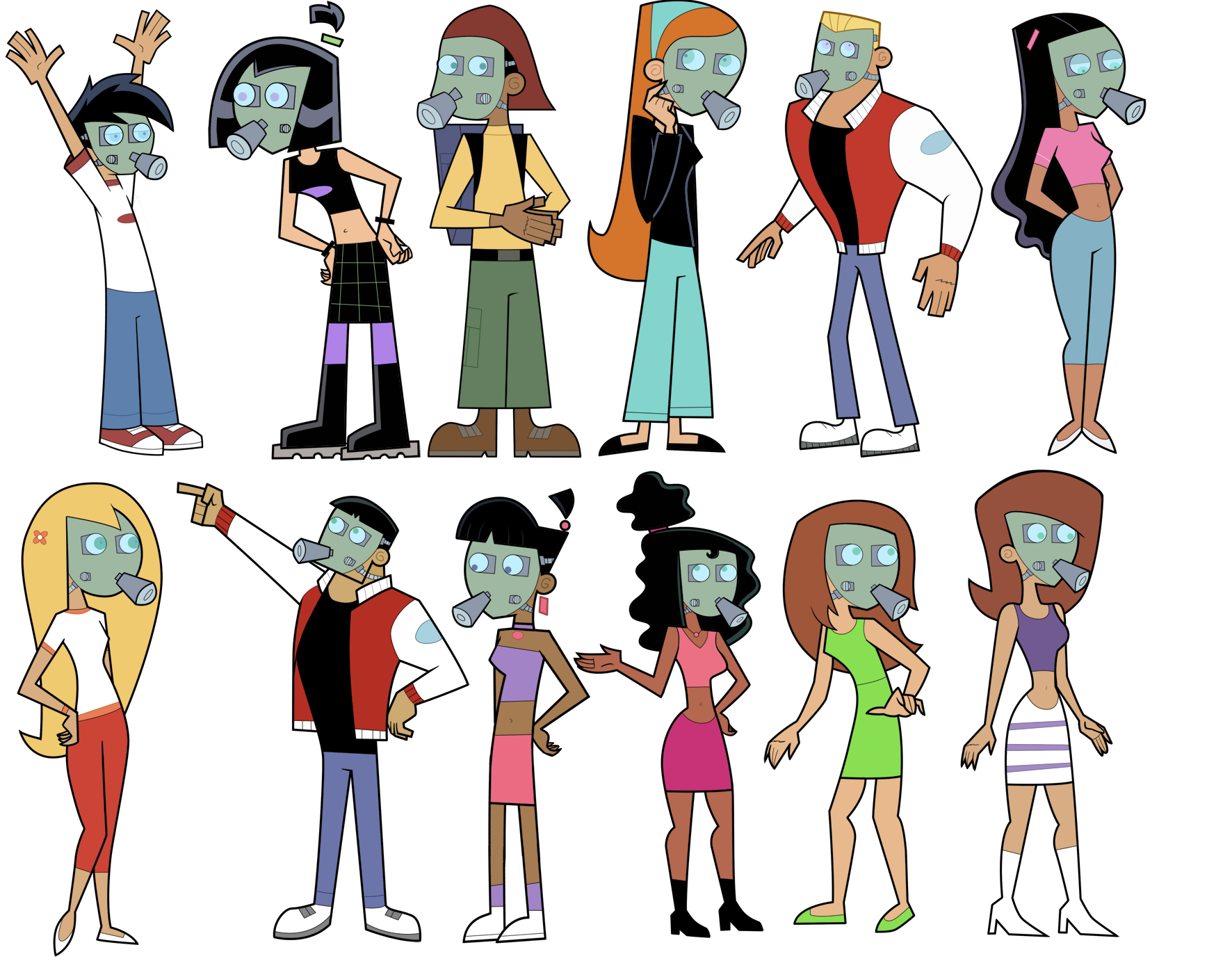 Image Danny Phantom Characters In Gas Masks Png Idea