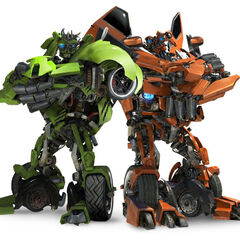 Autobot Twins Skids and Mudflap