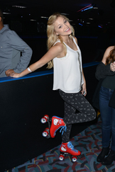 Olivia white top on the skate place
