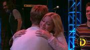 Lindy and Logan hug