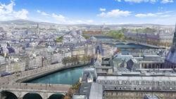 Paris 19th century skyline