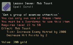 Lesson Seven Mob Taunt
