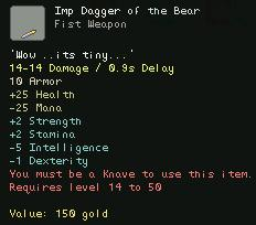 Imp Dagger of the Bear