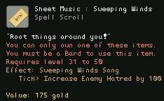 Sheet Music Sweeping Winds