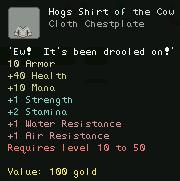 Hogs Shirt of the Cow