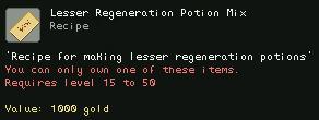 Lesser Regeneration Potion Mix