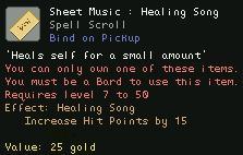 Sheet Music Healing Song