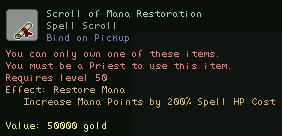 Scroll of Mana Restoration