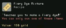 Fiery Dye Mixture