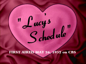 Lucy's Schedule