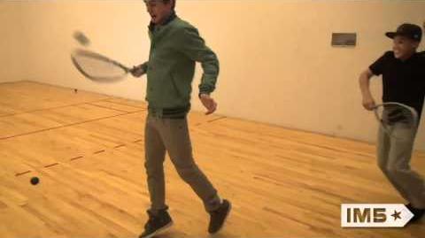 @ColeIM5 & @DanaIM5 kickin it on the squash court!