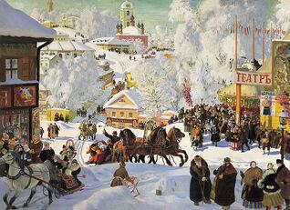 Russian town winter