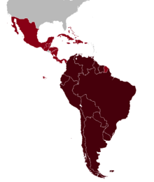 Federation of the Americas map