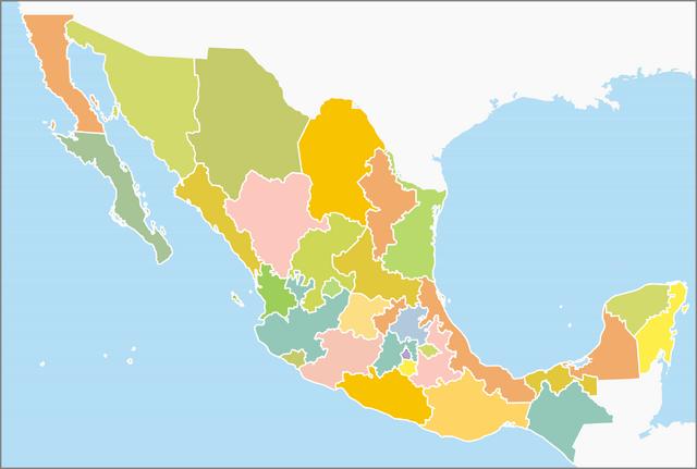File:Division politica Mexico .png
