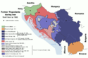 Map of war in Yugoslavia, 1992