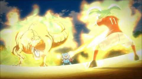 Inazuma Eleven Go Chrono Stone Fey fused with Kyouryuu