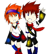 Kagamine Crossover- Rese and Tasuku
