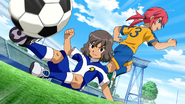 Shindou sliding tackled Kirino Galaxy 19 HQ