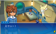 Pixie talking to Tenma (game)