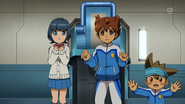 Tenma, Aoi and Shinsuke trying to console Mizukawa EP43 HQ