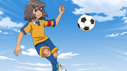 Shindou stopping Kita's ball GO 9