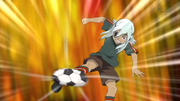 Sakuma stoping the ball