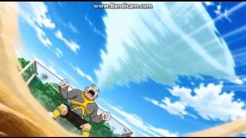Inazuma Eleven Go Chrono Stone - Shoot Command 01 Spinning Transam (Alpha)