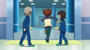Tenma running away form the soccer club