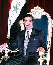 200px-Saddam Hussein on his throne-1-