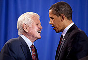 180px-Senator Edward Kennedy with President Barack Obama 4-21-09-1-