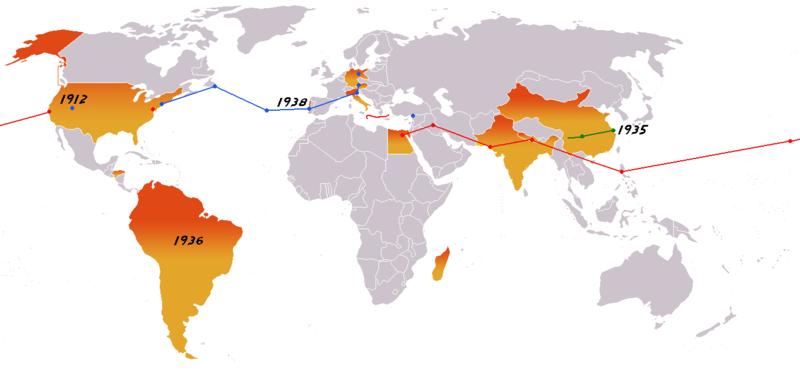 Indiana Jones movies map