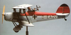 German biplane model