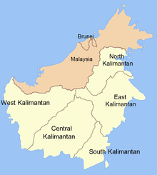 Map of Kalimantan