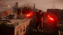 Evil Delsin uses Smoke Thrusters