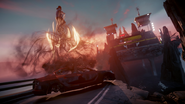 Delsin performs Car Boost during The Test mission