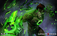 Shattered Light Atomic Green Lantern Skin Splash Art