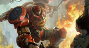 Fire Alarm Mecha Superman splash art