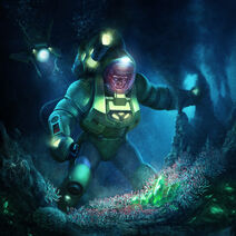 Trench Diver Lex Luthor Costume Skin Art