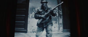 Soldier with M1 Garand rifle