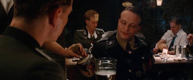 File:Dieter Hellstrom looks at the 33 whiskey.jpg