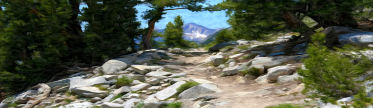 Banner--steep-mountain-path