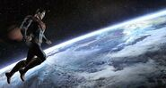 Superman over the Earth.2