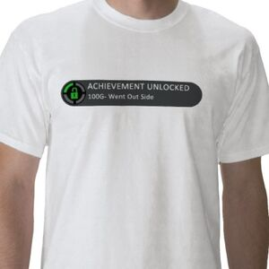 Achievement unlocked went outside tshirt-p235127684750349137trlf 400
