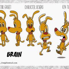 Brain's 2D designs by Ken Turner