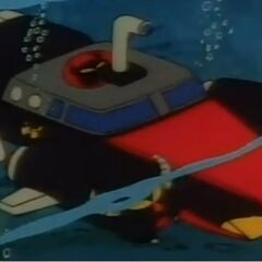 The M.A.D. Mobile in its submarine mode